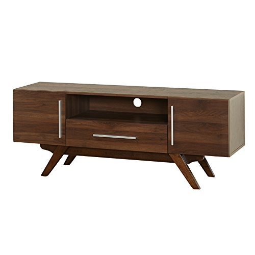 tems 38409WAL Rue TV Stand (2 Drawer Set Entertainment Center)