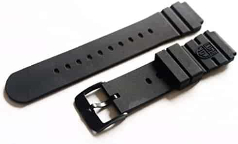 Luminox Rubber 3000 Series FP.L.DPB Black Out Navy Seal Watch Band with PVD Buckle