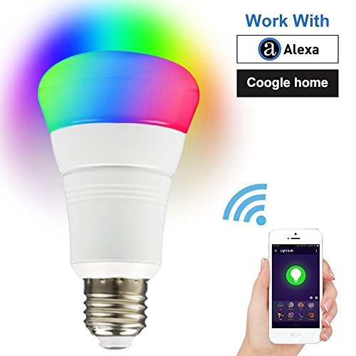 for iOS//Android Smart Bulb Light WiFi APP Indoor Remote Control NOAUKA Night Light Smart Led RGB Changing Multicolored Work with  Alexa and Google Multiple Modes Timing Function