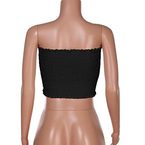 Vest Shirt Tops LuckUK Womens Bralette Tops for Strapless Lingerie Black for Tops Blouse Women Sexy Shouler Crop Womens Camis Womens Sexy Lingerie Ladies Women Off Tops T Bra dB5qr5