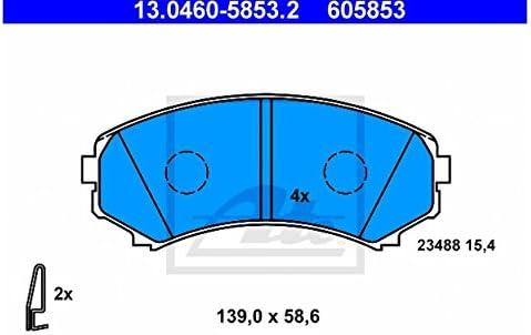 ATE 13.0460-5853.2 4x Bremsbel/äge vorne