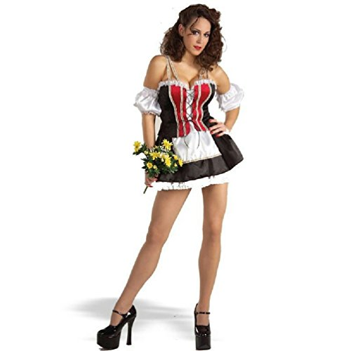 Sexy Swiss Girl Adult Beer Bar Wench Adult Costume XS/SM (Beer Wench Hair)