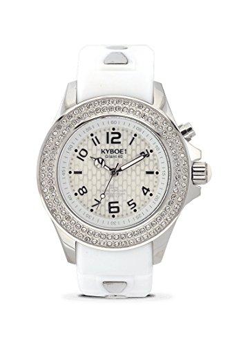 KYBOE! RADIANT SILVER SW.40-001.15 Ladies Crystal LED Watch