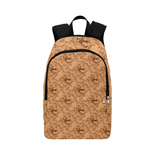 XINGCHENSS Vintage Seamless Paper Decorative Pattern Casual Daypack Travel Bag College School Backpack Mens Women