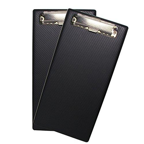 Black PVC Memo,Receipt Bill, Compact Clip Board, 8.8