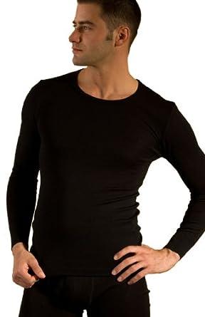 Hocosa Long-Underwear Shirt in Organic Wool-Silk Blend, Unisex at ...