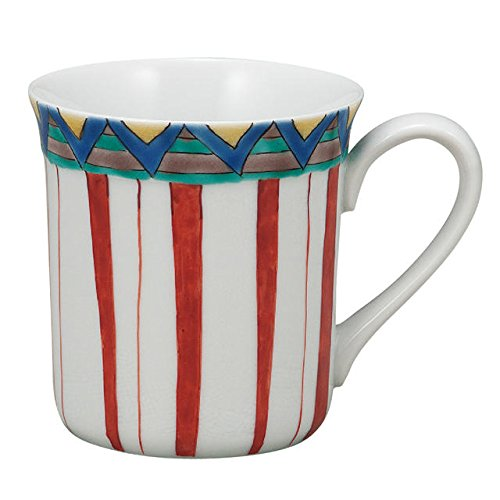 Japanese drawn Ceramic Porcelain kutani ware. Mug cup.