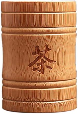 CUHAWUDBA Hecho una Mano Bamboo Tea Canister Spice Caddy Storage Box Organizer Bottle Tea Set Box-S