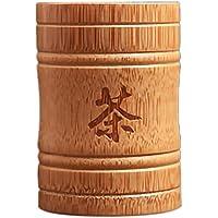 CUHAWUDBA Hecho una Mano Bamboo Tea Canister Spice