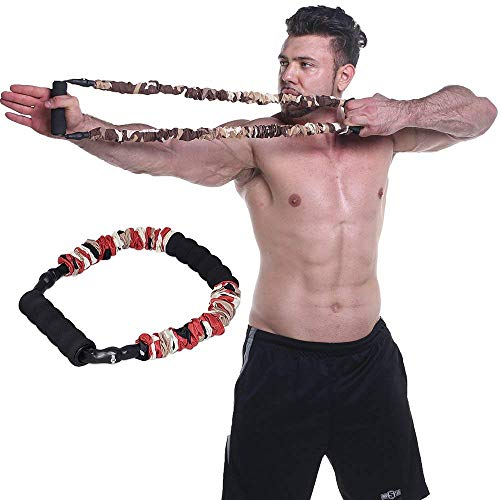 Ranbo Hand Extensor Exerciser,Finger strength Resistance Bands / arm strength training for archery pull bow workout equipment Camouflage Color (25 LB)