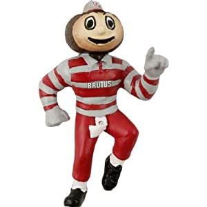 Amazon Com Ohio State Buckeyes Brutus Ncaa 5 Mascot Ornament Sports Fan Hanging