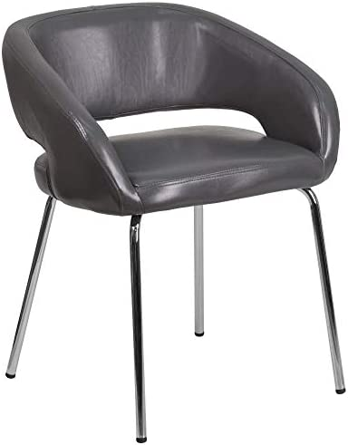 Flash Furniture Fusion Series Contemporary Gray LeatherSoft Side Reception Chair