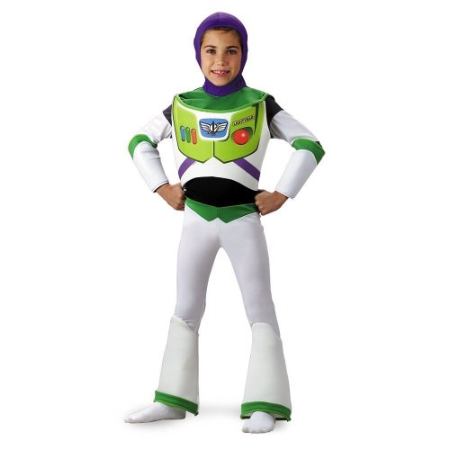Toy Story Buzz Lightyear Deluxe Costume - Size: (Leprechaun In The Hood Costume)
