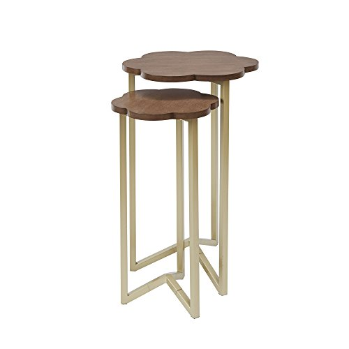 Silverwood FT1263-GLD-RGR Daphne Nesting Accent Tables (2pc), 17