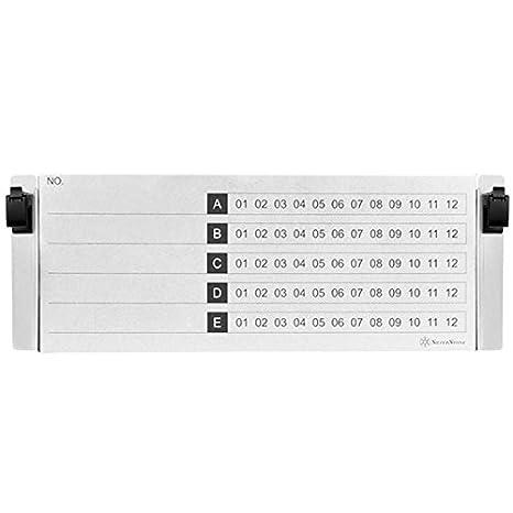 """Silverstone SST-RMB41 - Colección de chasis Protectores para Discos HDD o SSD de 2,5"""" 4U, 60 Unidades"""