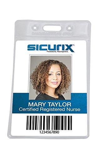 - SICURIX Standard Badge Holders Vertical 2 1/2