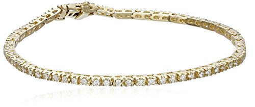 IGI Certified Brilliant-Cut Diamond 14K White or Yellow Gold Diamond Tennis Bracelet H-I Color, I1 Clarity , 7 or 7-3 4 , Choice of Carat Weights