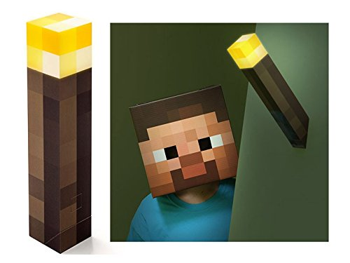 ThinkGeek Minecraft Light-Up Wall Torch - Mounts To Your Wall - Officially Licensed Minecraft Collectible