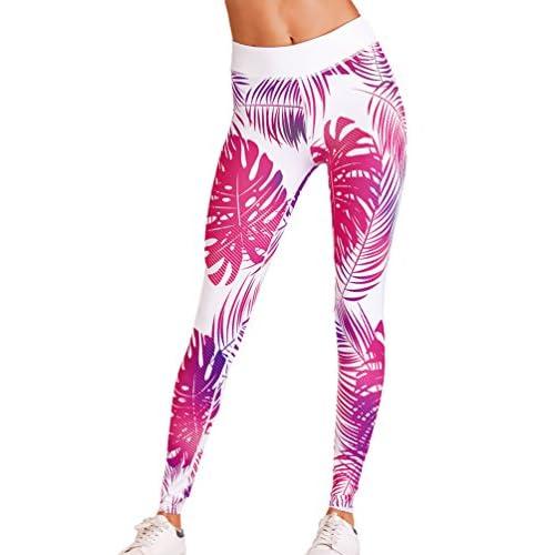 Yiiquan Pantalon de Yoga Pour Femme, Femmes Leggings Taille Elastique Pantalons Sport Jogging