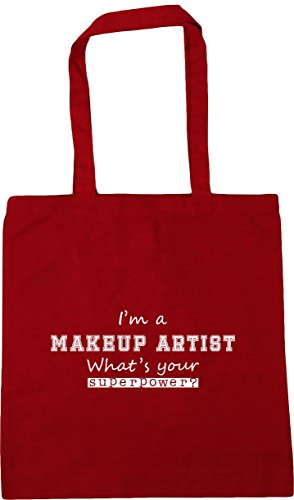 Bag 10 Artist Superpower Shopping Makeup Gym I'm litres a Red x38cm What's Tote HippoWarehouse Classic Beach Your 42cm wPB4n