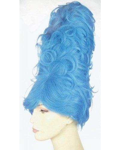 Beehive Blue Wig (Gigantic Beehive Huge Marge 1960s Wig - Lt Blue)