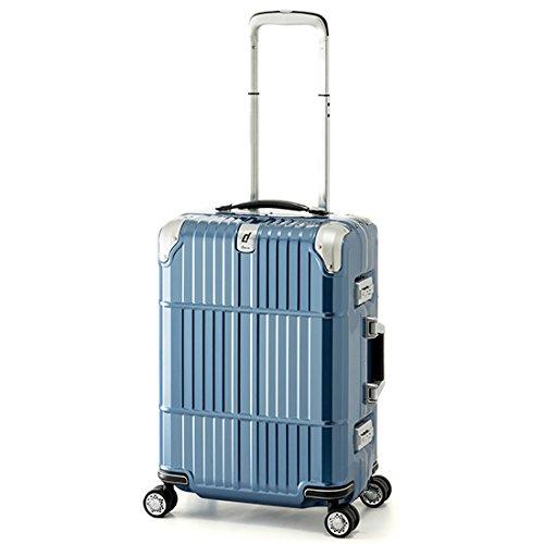 スーツケース 国内線機内持込可 | A.L.I (アジアラゲージ) departure (ディパーチャー) HD-509-21 フレーム B06ZYZK6M7 シャイニングアイスブルー シャイニングアイスブルー