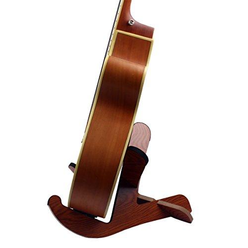 SUPVOX Bass Guitar Ukulele Stand Holder Wooden Guitar Display Stand Rack for Guitar Ukulele Violin Mandolin Banjo Instrument Accessory