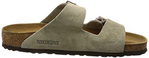 Birkenstock Unisex Arizona, Casual, Elegante, Resistente E Confortevole Sandali In Pelle Taupe Scamosciata