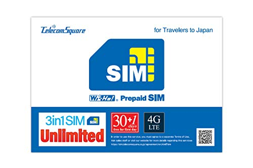 (Japan True Unlimited SIM Card 4G / LTE [Prepaid for 30 Days + Extra 1 Day][iPhone/Android/iPad][Multi Cut-Size Includes)