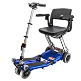 Free Rider USA - Luggie Elite - Compact Lightweight Foldable Scooter - 4-Wheel - Blue