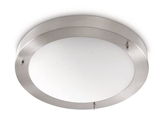 Philips Plafón 320101716 Iluminacion E27, 20 W, Cromado Mate