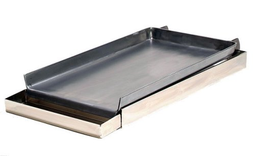 Master Chef 7 Gauge Steel Commercial Two Burner Griddle with Removable Grease Tray