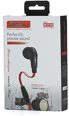 JBM Auriculares super BASS para Smartphone. Cable plano, con ...