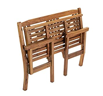 Sunset Garden SG55 Bayon Outdoor Folding Bench Real Wood, Natural