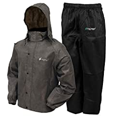 The All Sport Rain Suit includes a jacket and pant with purchase. The jacket features a full-length parka-cut, open-waist design with elastic cuffs. The front zip with snap-down storm flap ensures wearers stay dry while the adjustable, remova...