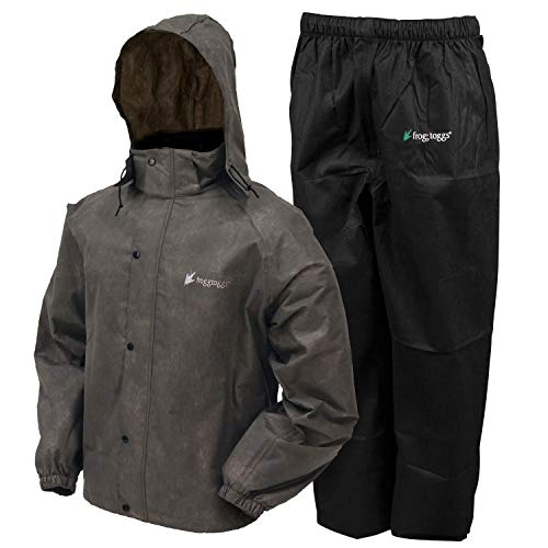 Frogg Toggs All Sport Rain Suit, Stone Jacket/Black Pants, Size Large