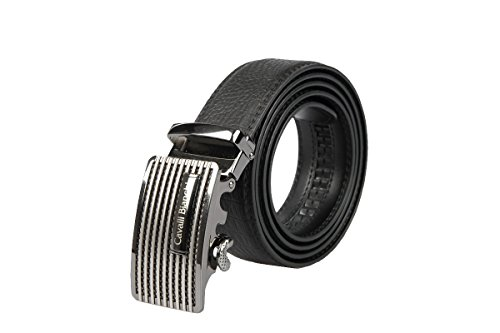 Cavalli Bianchi Designer Dress Belt for Men with Classic Buckle | Genuine Leather | Luxury Fashion for Business Suits and Pants | Modern Style #1 - Designer Style Belt Buckle