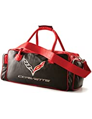 Corvette C7 Red/Black Leather Travel Bag
