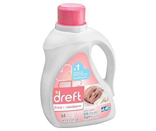 Dreft He Liquid Laundry Detergent, Stage 1, 100 Oz