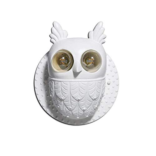LMDH Owl LED Wall Light for Kids- Wall Lamp Take Good Care Children Sleep Light Sensor Auto Controlled Nightlights for Baby Nursing (Lamp Heat Arm Aluminum)
