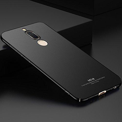 Huawei Mate 10 Lite Hülle, MSVII® Sehr Dünn Hülle Schutzhülle Case Und Displayschutzfolie für Huawei Mate 10 Lite - Schwarz JY00362