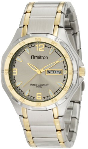 Armitron Men's 204309GYTT Two-Tone Stainless Steel Round Dial Dress (Dress Two Tone Wrist Watch)