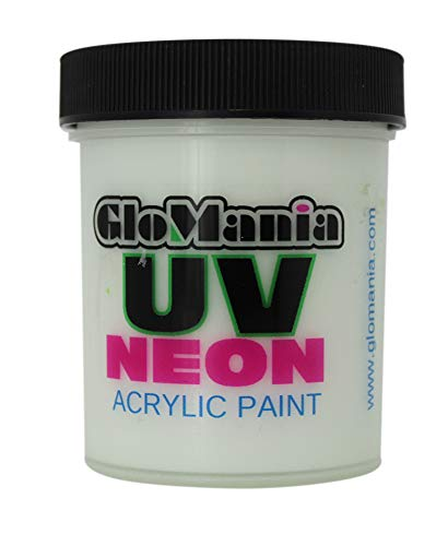 White UV Black Light 4oz, Neon, Rave, Fluorescent, Acrylic Paint ()
