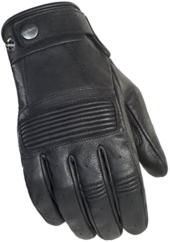 Cortech Men's Duster Leather Motorcycle Gloves (Black, Large) (Cortech Motorcycle Gloves)
