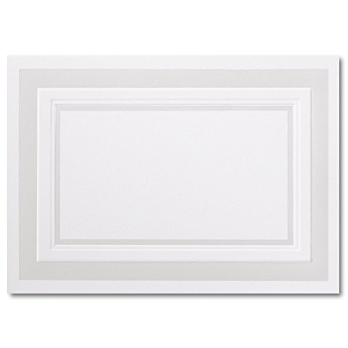 (Fine Impressions Fold-Over Response Cards, Hi-White with Embossed Pearl Border, 250 Count (RRAN4FPEMBW) )