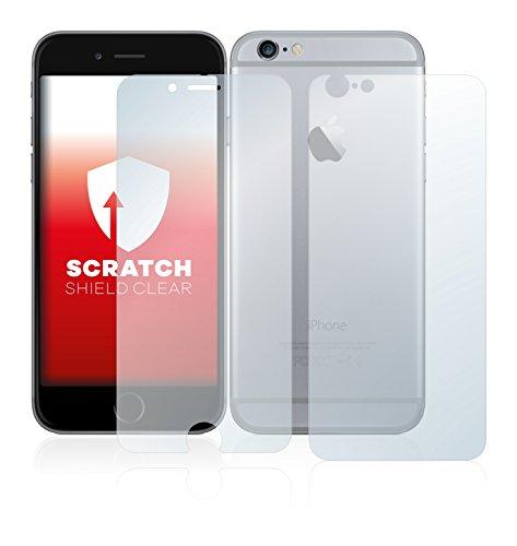 upscreen Scratch Shield Pellicola Protettiva Apple iPhone 6 (Anteriore + Posteriore) Protezione Schermo – Trasparente, Anti-Impronte