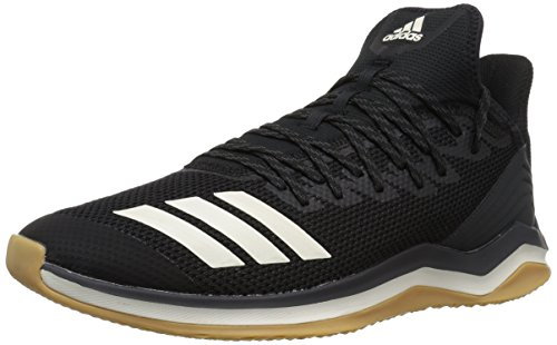 (adidas Men's Icon 4 Baseball Shoe, Black/Cloud White/Carbon 3, 12 M US)