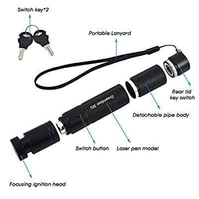 Dreamlizer Tactical Green Hunting Rifle Scope Sight Laser Pen Demo Remote Pen Pointer Projector Travel Outdoor Flashlight LED Interactive Baton Funny Laser Toy