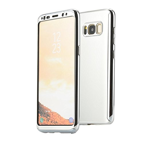 Price comparison product image For Samsung Galaxy S8 / S8 Plus, Iusun Ultra Thin Case Protective Cover + Free Screen Protector Film (Silver, Samsung Galaxy S8)