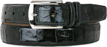 Mezlan Mens Genuine Crocodile, BLACK, 34 (AO8603) (Mezlan Crocodile Belt)